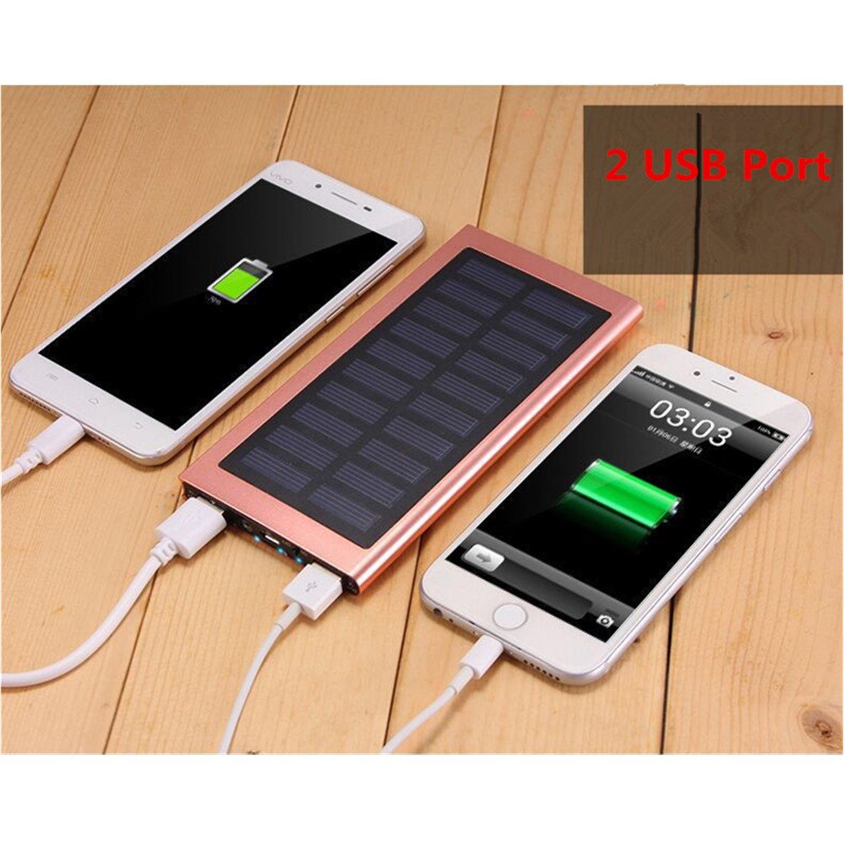 10000mah diy coque de batterie chargeur solaire portable dual usb de charge rapide pour mobile. Black Bedroom Furniture Sets. Home Design Ideas
