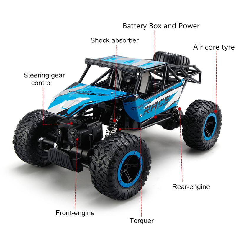 JJRC Q15 1/14 2.4G 4WD Racing RC Car Rock Crawler 4x4 Driving Truck Off-Road Vehicle Toys