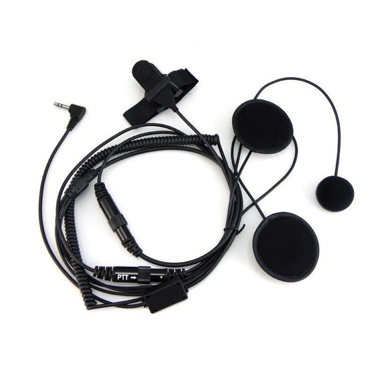 1 Pin Full Face Close Motorcycle Helmet Headset For Motorola Walkie Talkie Radio