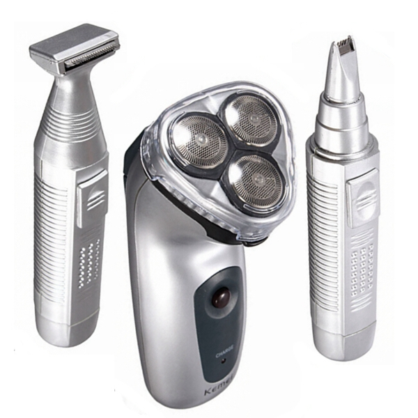 Buy Kemei KM-3943 3 In 1 Rotary Rechargeable Razor Electric Shaver Trimmer