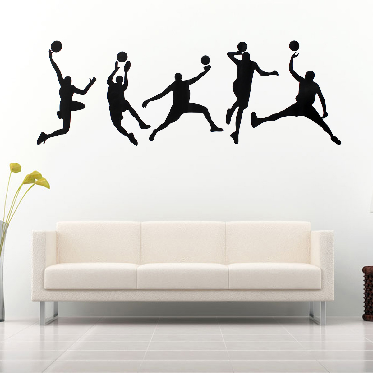 45X126CM Playing Basketball Wall Stickers Removable Sports Decal Home Room Decor Wall Sticker