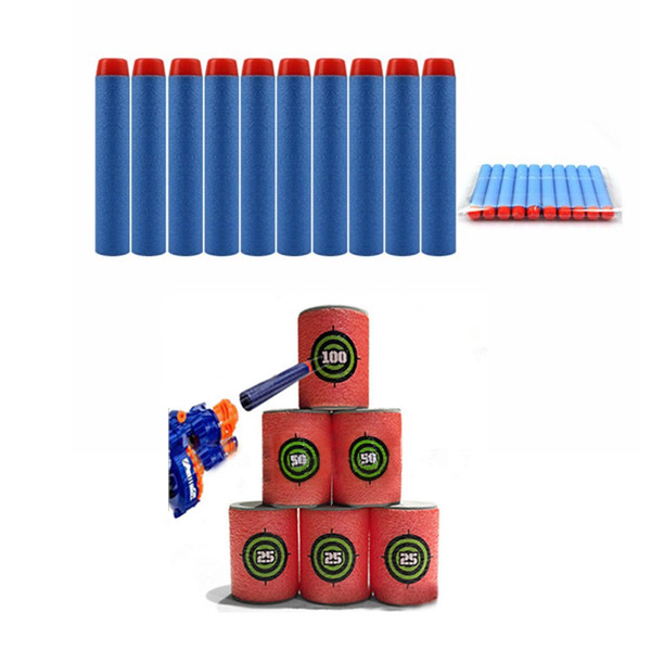 100PCS Light Blue Refill Bullets Dart For Nerf N-strike Elite Rampage Retaliator Series - Photo: 1
