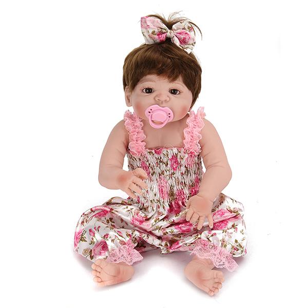 22inch Reborn Baby Doll Silicone Handmade Lifelike Girl