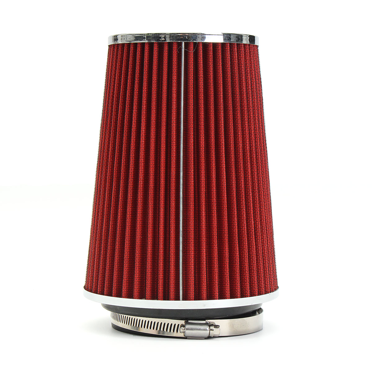 Buy 4 Inch Red Truck Long Performance High Flow Cold Air Intake Cone Dry Filter Car