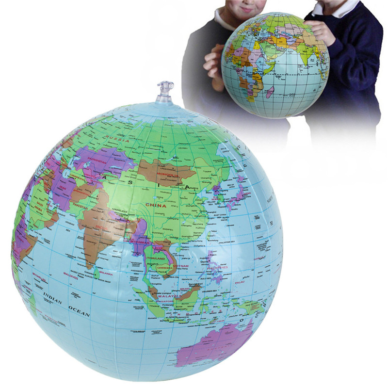 40cm inflatable world earth globe atlas map beach ball science 40cm inflatable world earth globe atlas map beach ball science geography education gumiabroncs Images