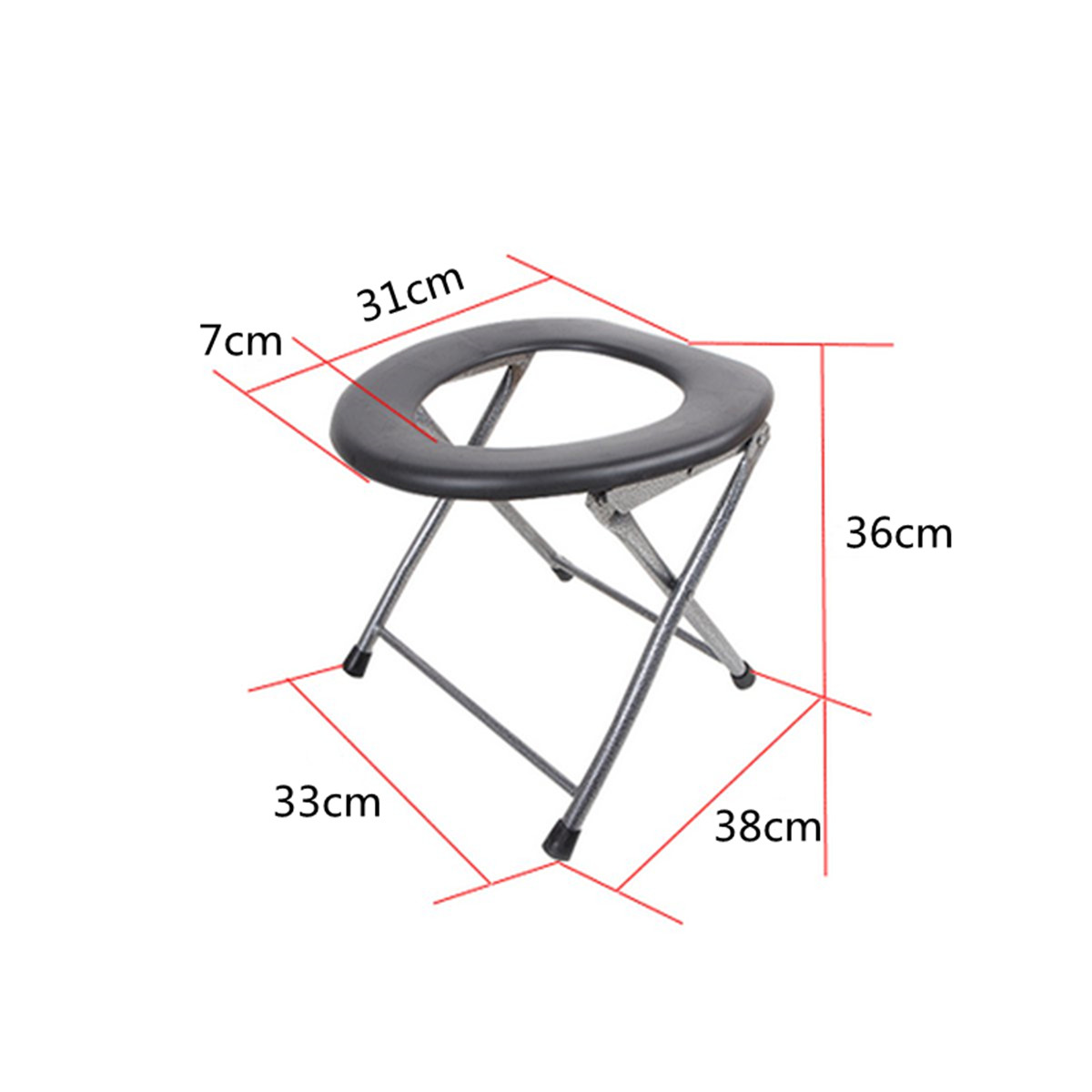 IPRee™ Portable Folding Toilet Stool Old Pregnant Women Sit Chair Travel Camping