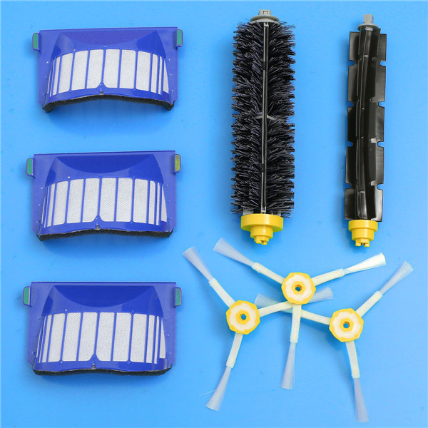 Replacement Brush Filter Kit for iRobot Roomba 600 Series