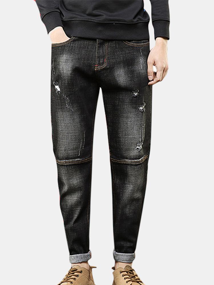 Ripped Harem Pants Fit Loose Hip Hop Jeans for Men SKU856966