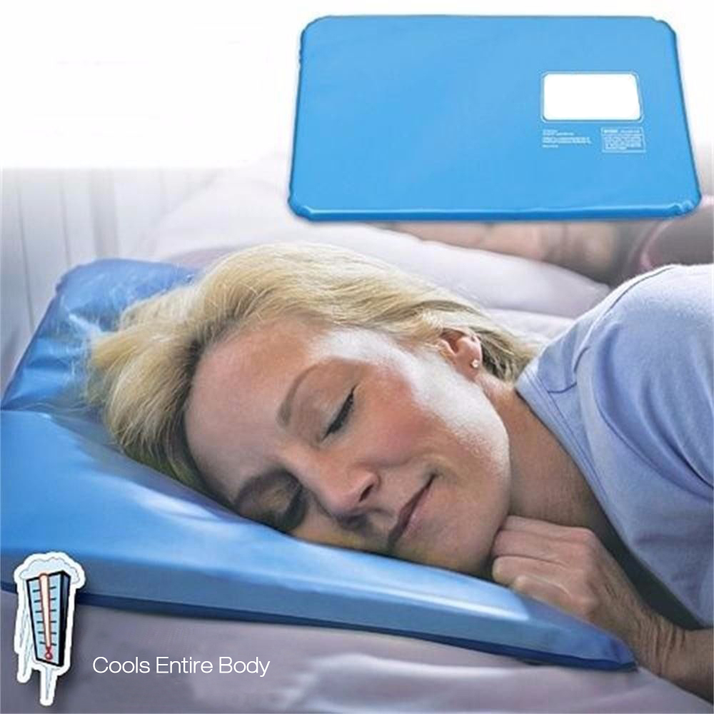 Pillow Cooling Pad Sleeping Therapy Insert Comfort Aid Mat Muscle Relief Cooling Pillow SKU642336