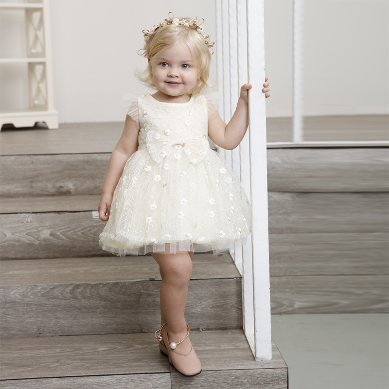 Cute Toddler Girls Sleeveless Pageant Wedding Formal Princess Dress For 1Y-9Y