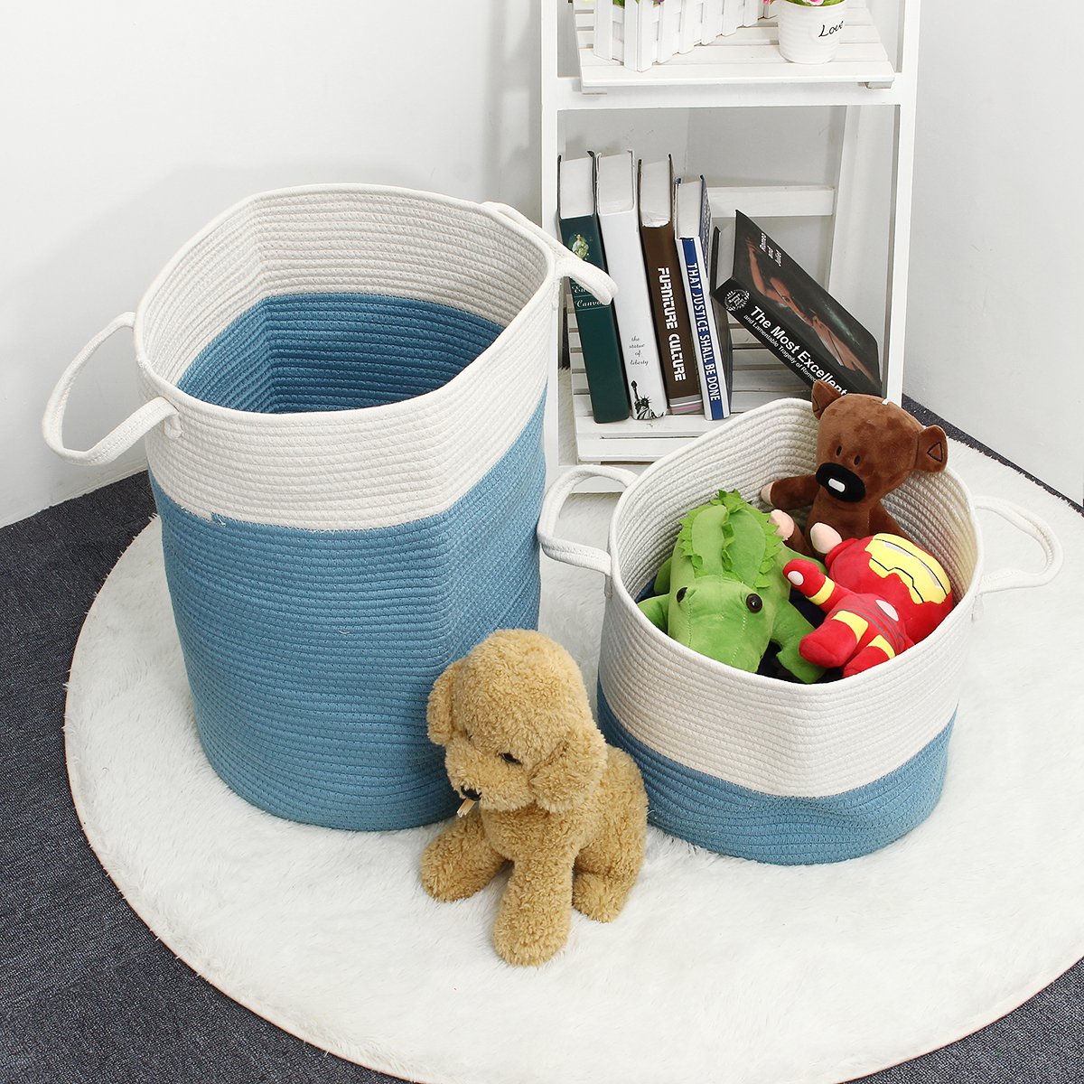 Braided Woven Storage Basket Household Toy Organizer