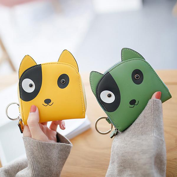 Cartoon Dog Pattern Coin Bag Card Holder Purse Change Pouch Key Bag (SKU869545) photo