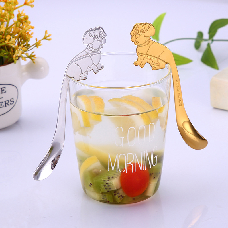 Stainless Steel Coffee Spoon Snack Coffee Spoon Stirring Stick Cartoon Hanging Cup Spoon