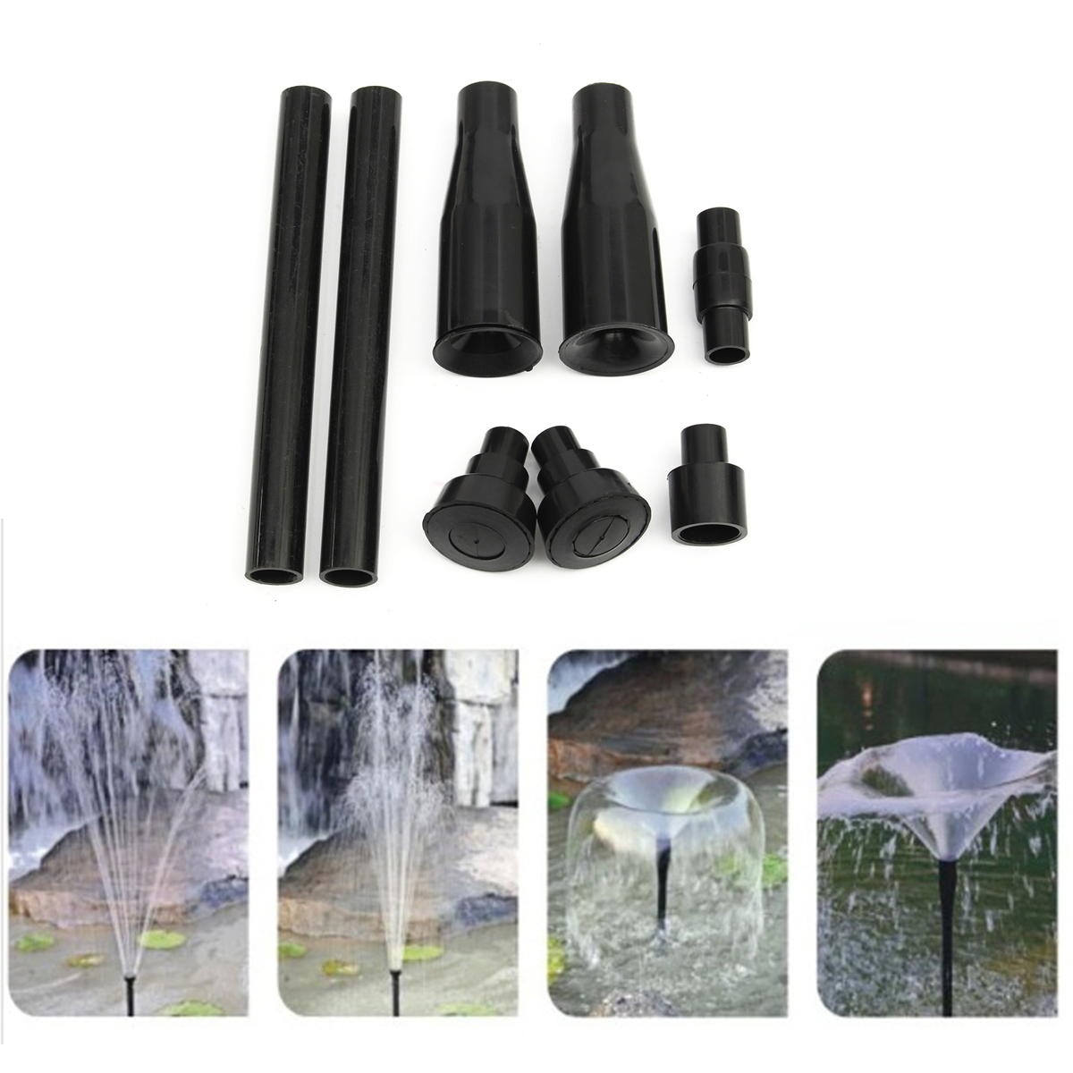 Solar Powered 3 Different Spray Heads Water Pump Garden Fountain Pond Kit for Waterfalls