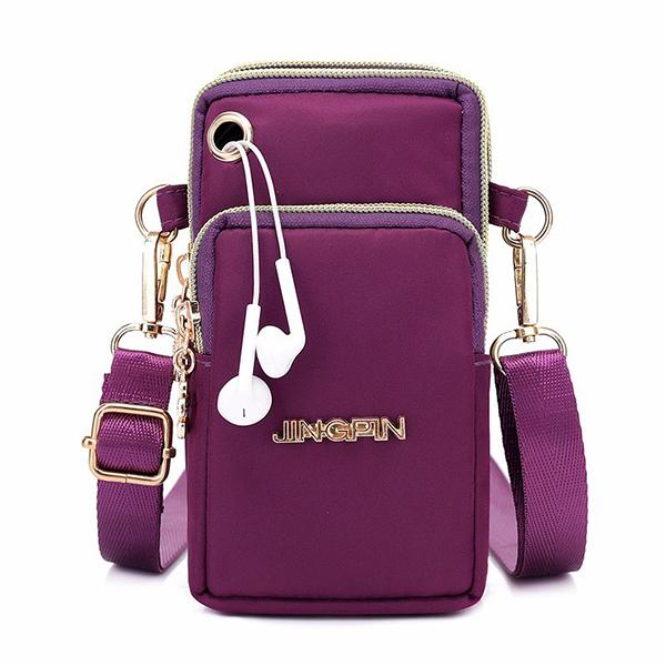 Women Nylon Mini Phone Bags Portable Leisure Waterproof Crossbody Bags