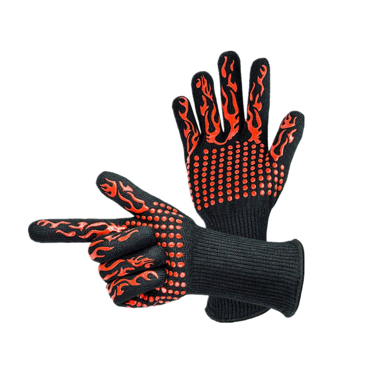 BBQ Grilling Cooking Gloves 932°F Heat Resistant Barbecue Gloves
