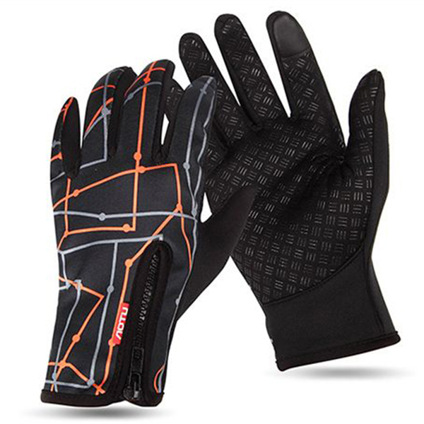Mens Women Warm Ourdoor Windproof Fleece Cycling Ski Gloves Full Finger Touch Screen Gloves SKU811797