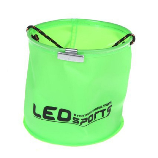 Portable Foldable Garden Camping Fishing EVA Buckets With Fishing Rope Water Storage Supplies