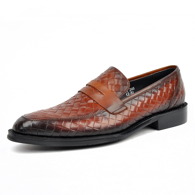 newchic - Herren Woven Style Penny Loafers Slip On Casual Hausschuhe