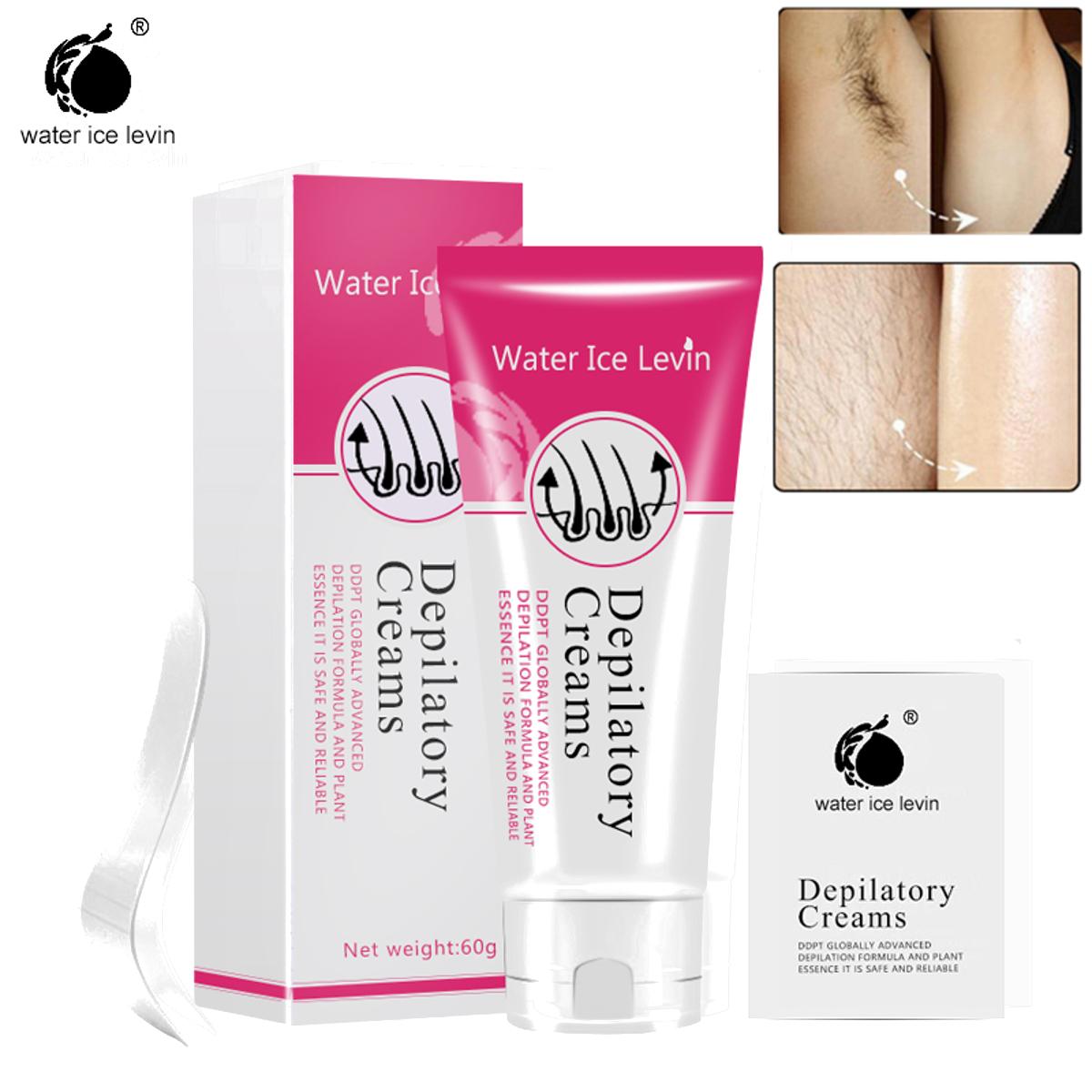 Water Ice Levin Painless Hair Removal Cream Legs Armpit Depilatory 60g SKU633192