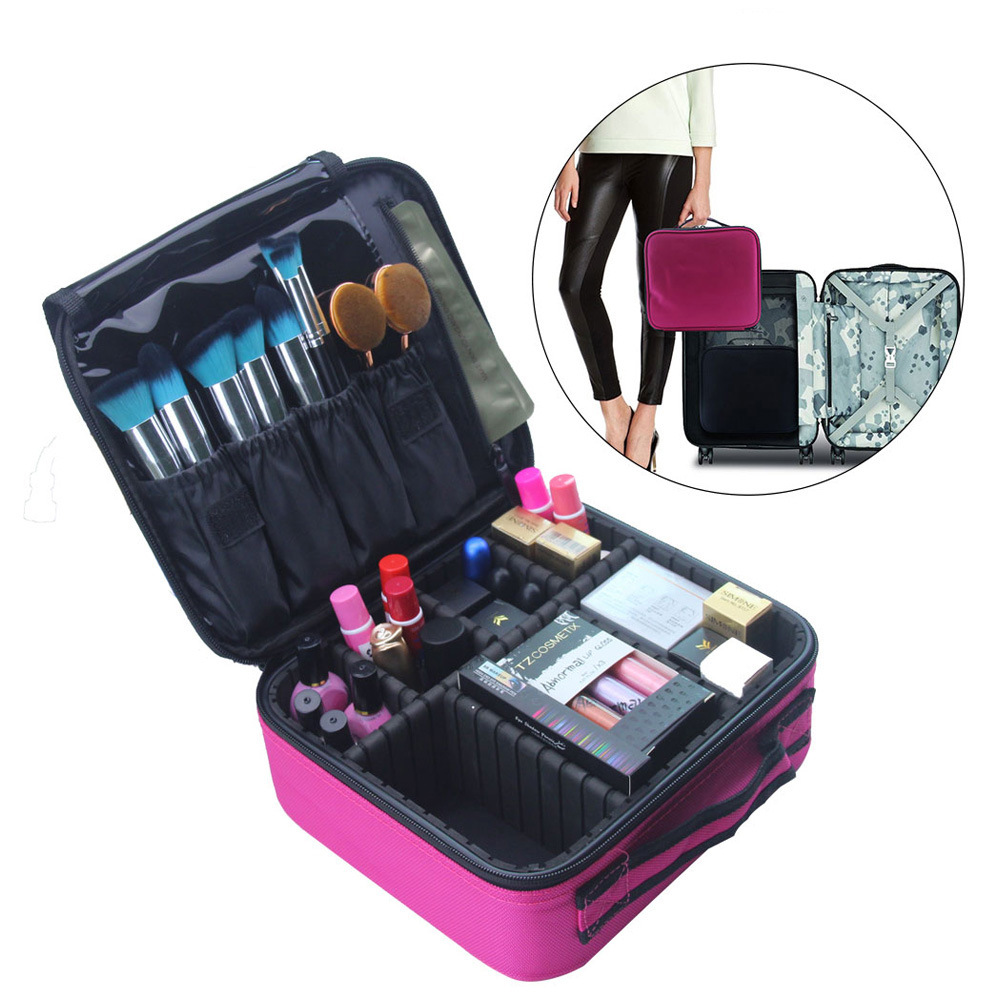 High-capacity Cosmetic Case Travel Storage Makeup Tote Bag Storage Box SKU853357