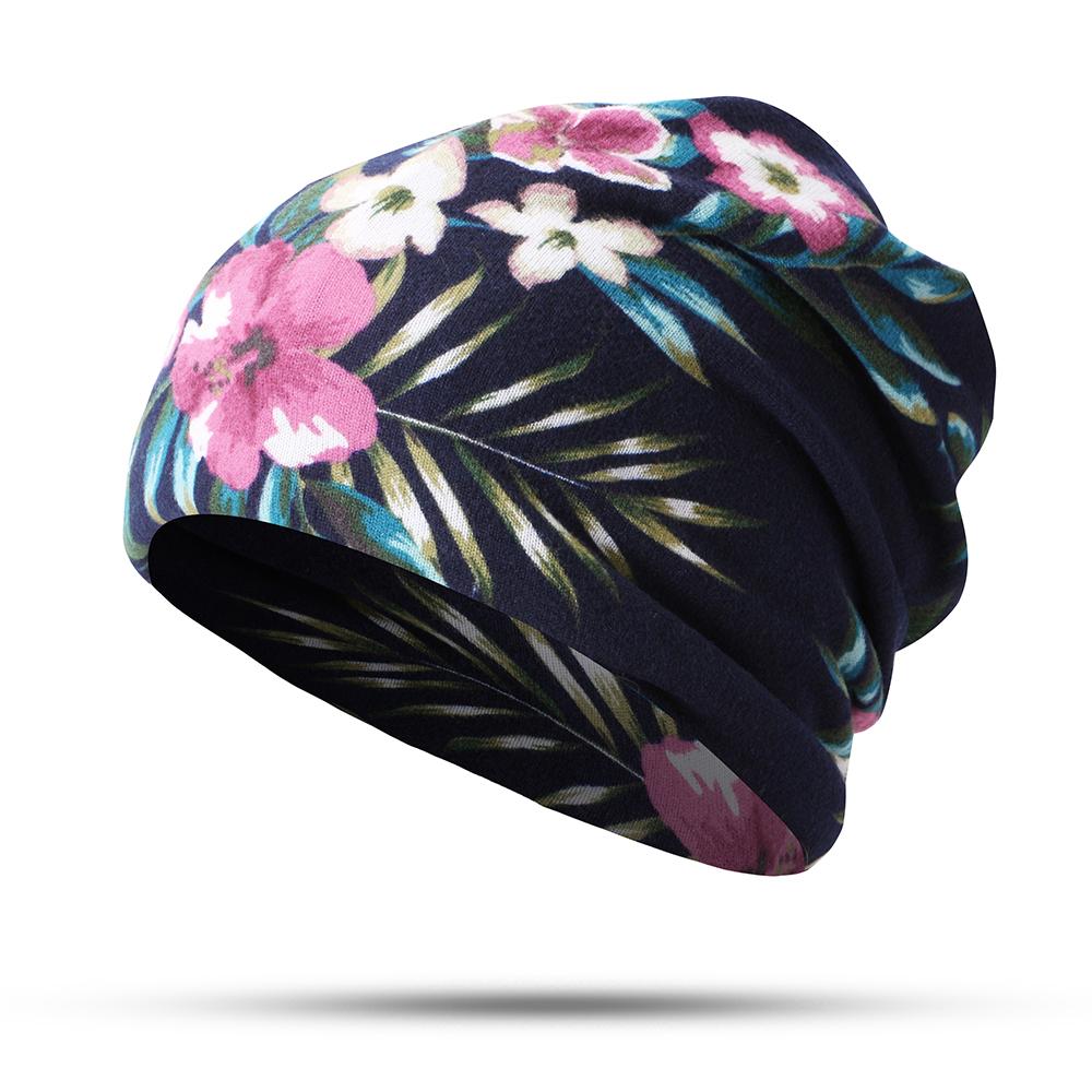 Bonnet En Coton Imprimé Foulard Couvre-oreille Double Usage - Newchic - Modalova