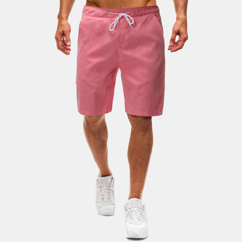 960802e2a4 Mens 9 Color Plus Size Plian Board Shorts Casual Quick Dry Thin Loose  Drawstring Beach Shorts