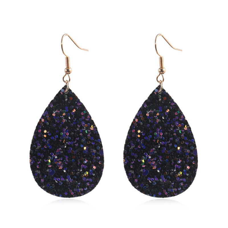 Trendy Shimmer Drop Earrings Water Drop Earrings Fashion Glitter Women Earrings