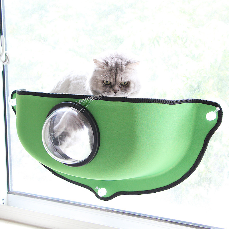 Mrosaa Cat Astronaut Vacuum Cup Hammock Bed Wall Hanging Cat Hammock Bed