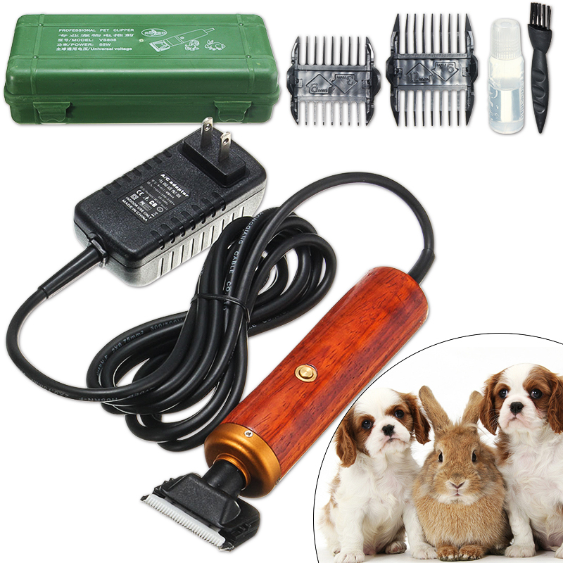 Pet Dog Hair Trimmer 55W Horse Cat Grooming Clipper Shaver Comb Kit SKU420344