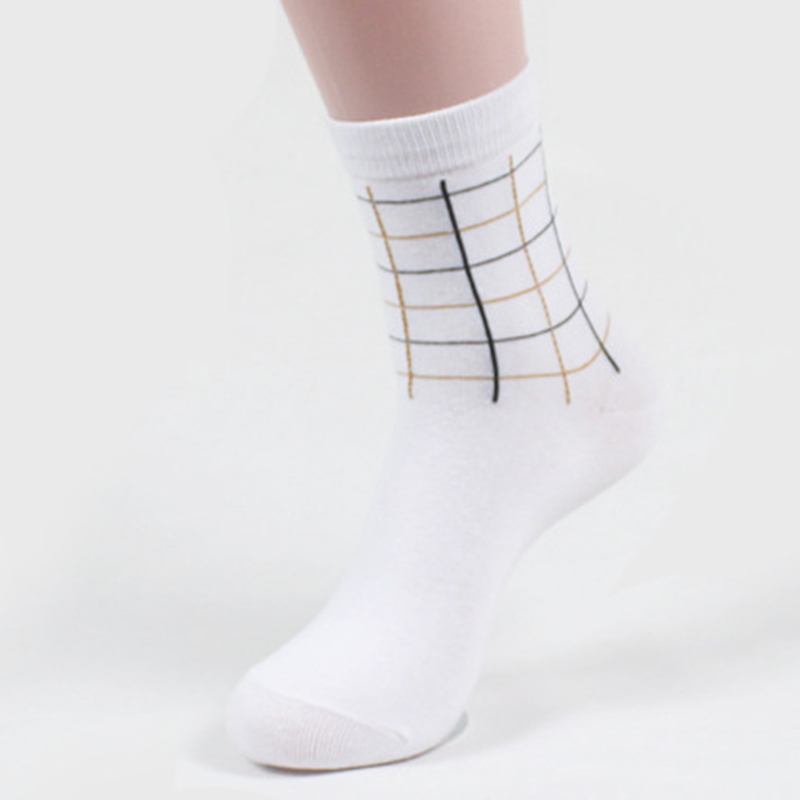 Men Five-color A Box Long Tube Sports Socks Cotton Breathable Wicking Socks Running Hiking Socks