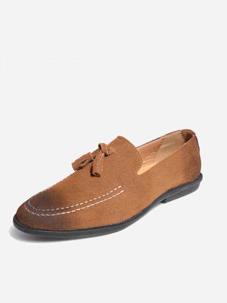 newchic - Men Tassel Decoration Pointed Toe Stilvoller Slip On Casual Loafers