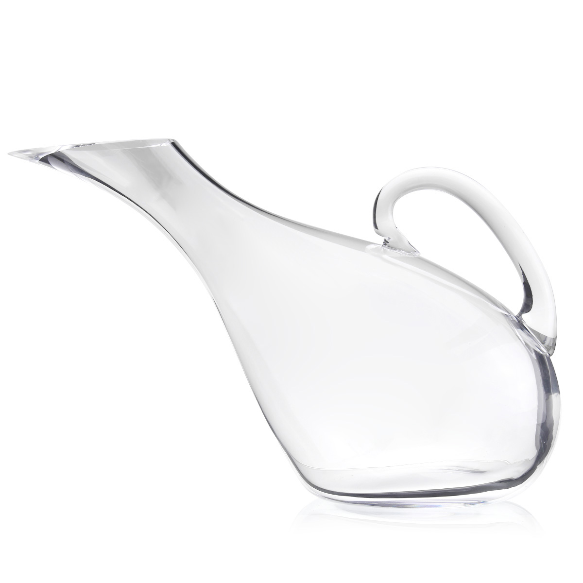 Artificial Blowing Manual Lead-free Crystal Glass Grace Swan Shape Transparent Wine Decanter
