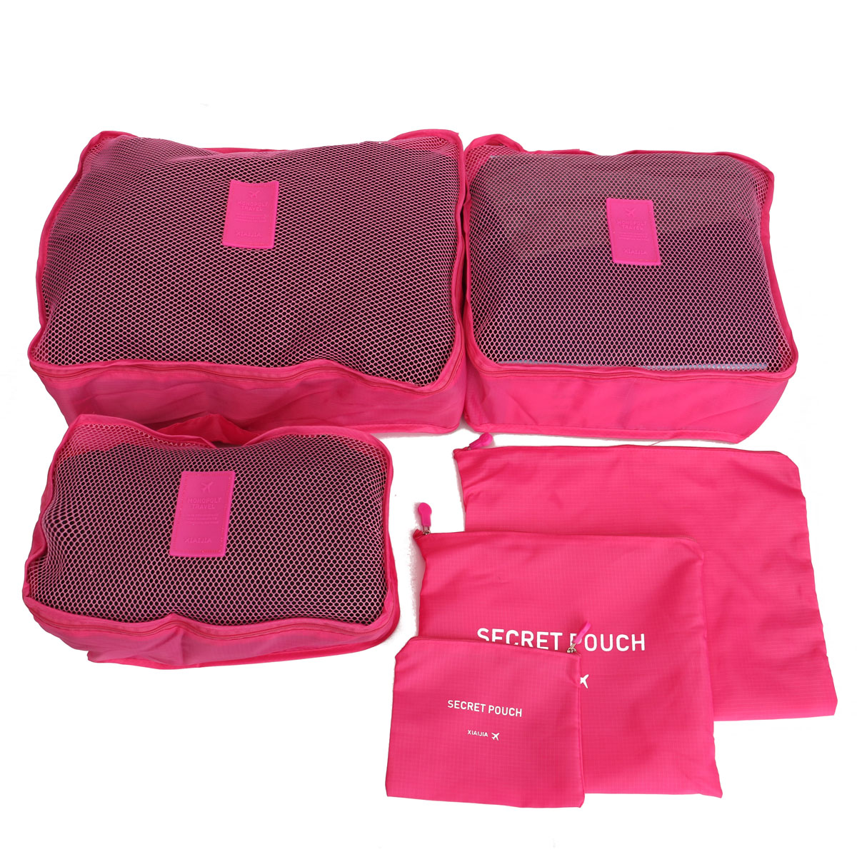 6Pcs Waterproof Travel Storage Bags Pouch Luggage Organizer Packing Cube Clothes