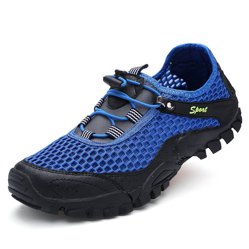 Men Mesh Bungee Closure Breathable Water Shoes Outdoor Hiking Sneakers SKU876105