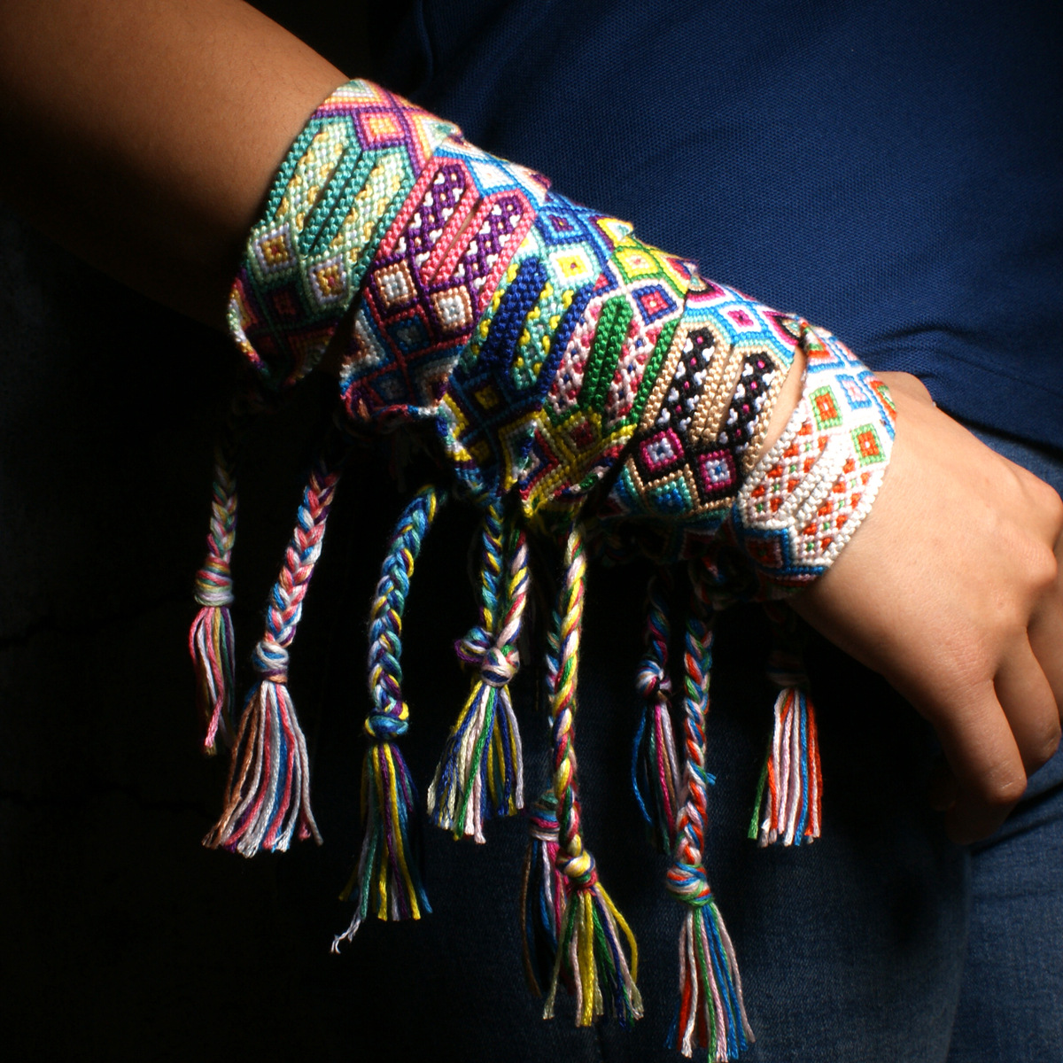 Bohemian Charm Bracelet Hand Weave Colorful Tassels Enthic Jewelry Handmade Bracelet for Women Men