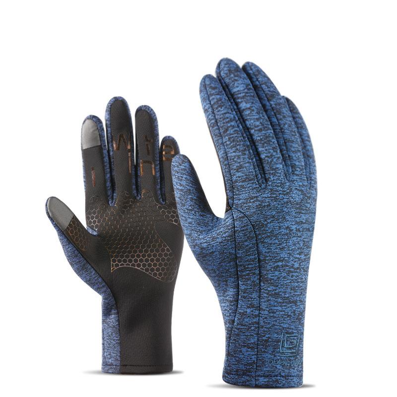 Mens Women Sports Waterproof Gloves Outdoor Riding Touch Screen Warm Velvet Ski Climbing Gloves SKU781078