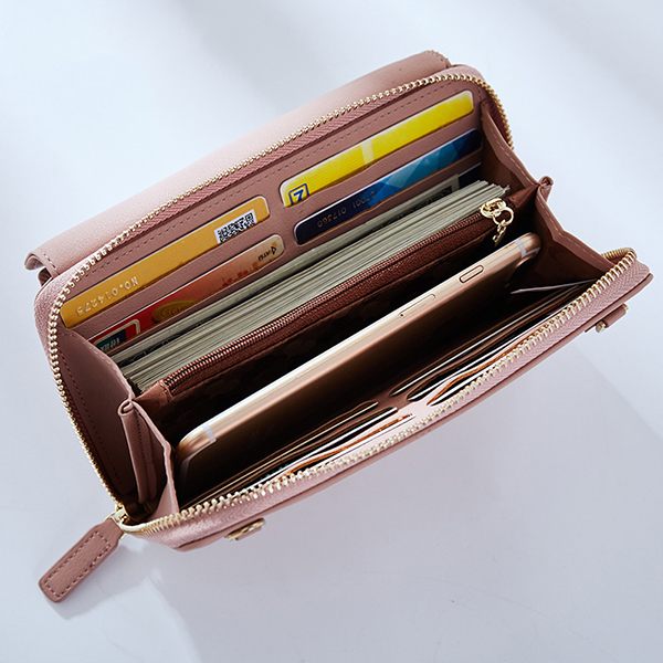 Women Candy Color Purse Clutch Card Holder Wallet Purse (SKU842404) photo