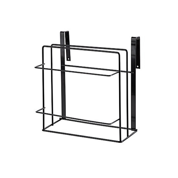 Image of Iron White/Black Rack for Kitchen Tool Cabinet Board Shelf Rack Free Punching Wall Hanging Rack