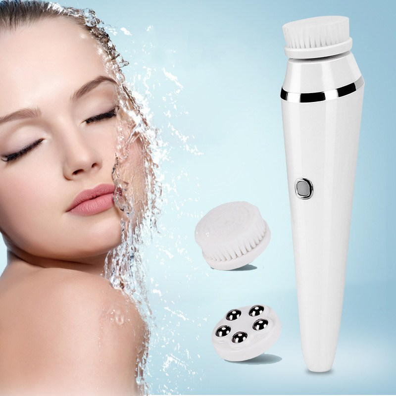 3 In 1 Electric Cleaning Brush Pore Cleaner Full Body Waterproofing Facial Cleaning Tool Face Care