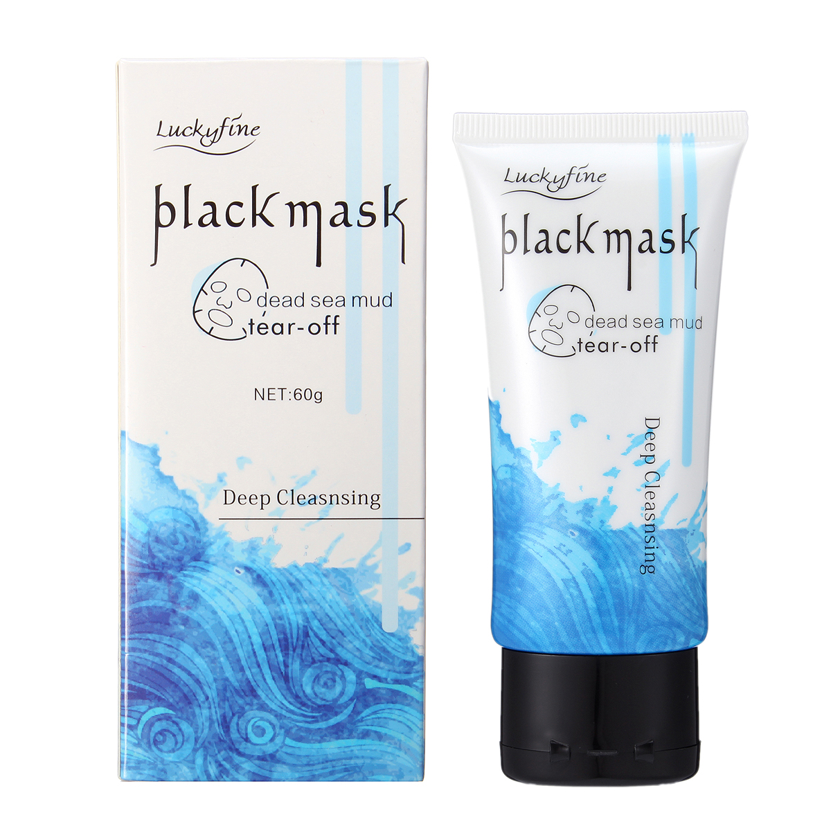 Luckyfine Dead Sea Mud Blackheads Mask Removal Tear Off Deep Cleansing