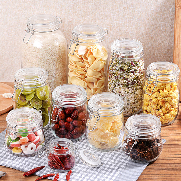 Image of Kitchen Grains Glass Storage Tank Food Grains Storage Tank Bottle Milk Powder Food Storage Container