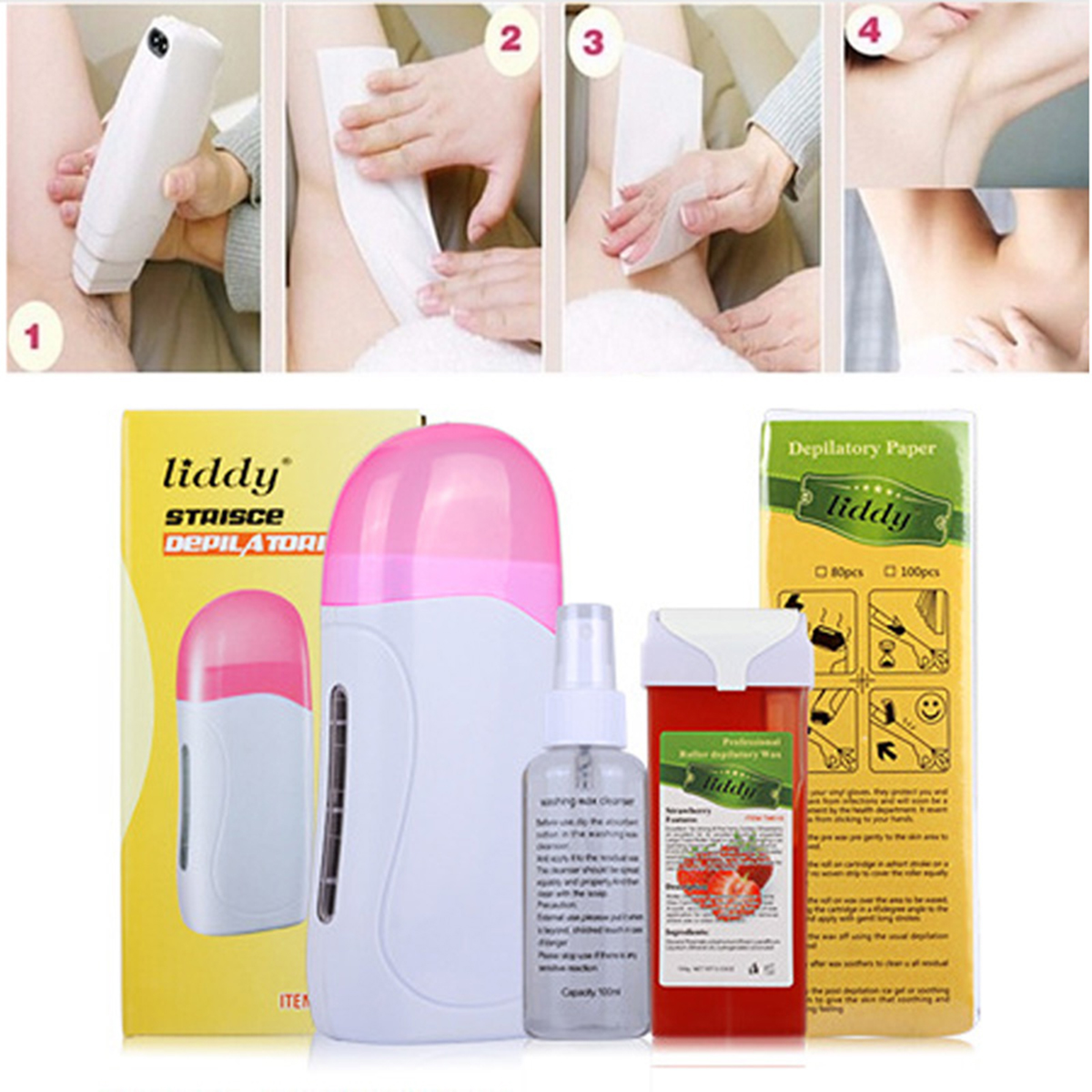 Electric Hair Removal Care Sets Heater Waxing Depilator Epilator Machine Hair Remove Wax Kit SKU693165