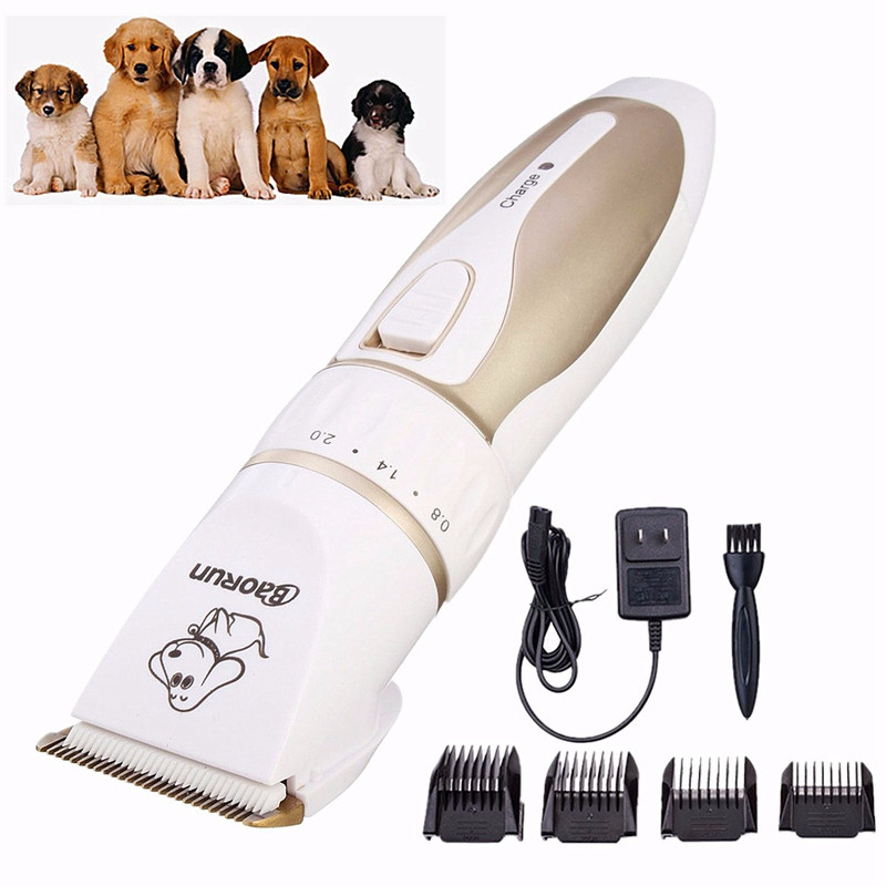 Electric Animal Pet Dog Cat Hair Trimmer Shaver Grooming Quiet Clipper SKU424376