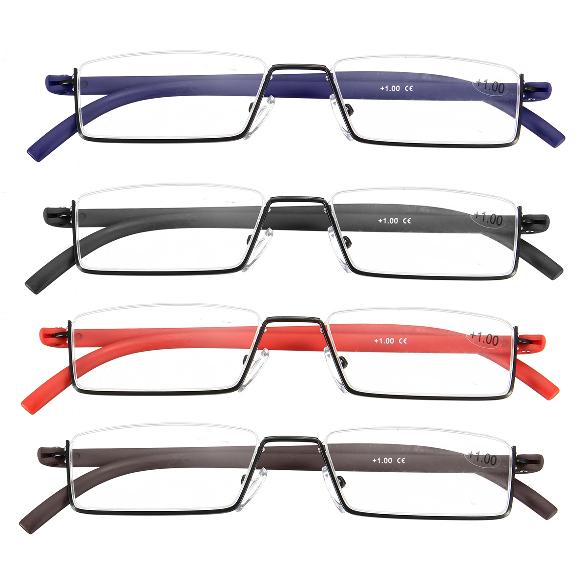 Half Frame Reading Glasses Comfortable Non-Deformable Goggles Glasses With Box Personal Eye Care