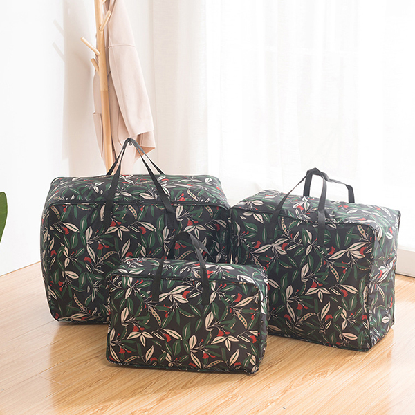 Daily Quilts Storage Bag Dacron Double Zipper Clothes Storage Bags