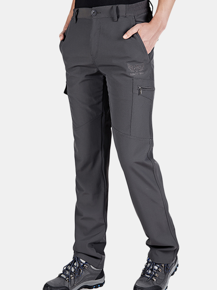 Mens Outdoor Soft Shell Water-repellent Quick-Dry Breathable Climbing Sport Pants SKU533020