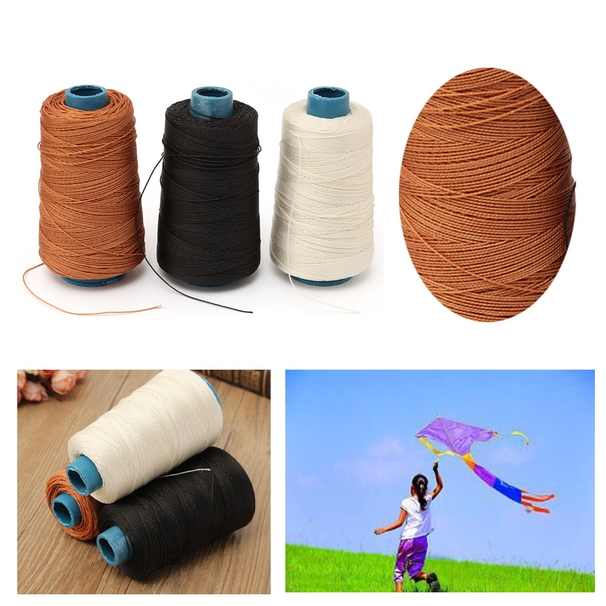 250-300M Kite Line Nylon Rope Kite String Wax Line Seam Shoe Sole Line Lead Line Tire Yarn Hair