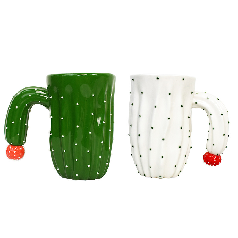 Creative Green Plant Cups Cactus Cup Ceramic Milk Tea Coffee Cups Drinkware