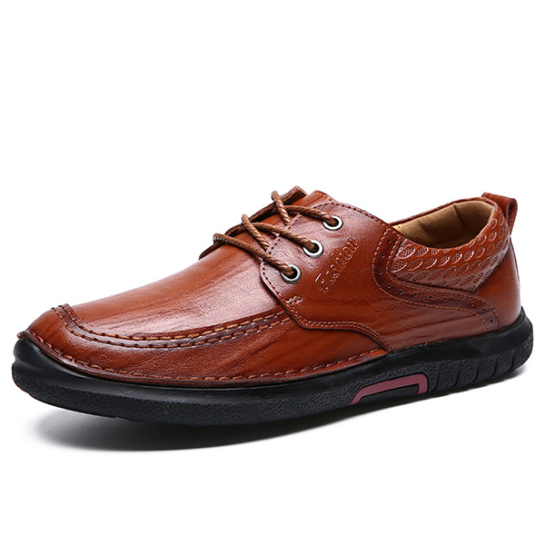 Men Hand Stitching Genuine Leather Shoes SKU841624